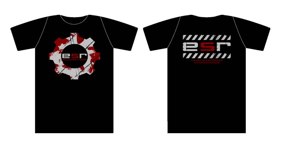 Electro Synthetic Rebellion - ESR logo T-shirt